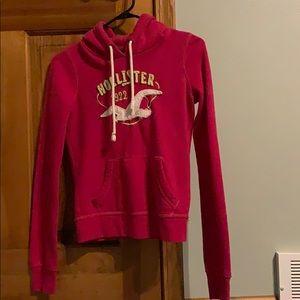 Pink hollister hoodie